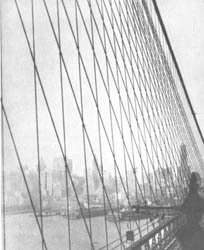 197. H.O. HOPPE. BROOKLYN BRIDGE, 1919.
